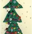 Wigilijne drzewko na firmowej kartce PeBeKa